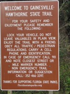 Hawthorne Trail Sign