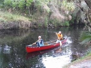 Peggy & John Canoeing