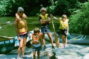 Kobak Family Paddling 1976