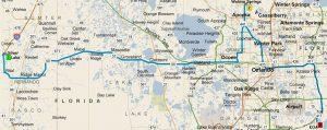 FL2016-Map-Silver Lake to Wekiva Springs & KOA