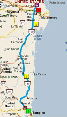 Mexico Trip Map 8-4