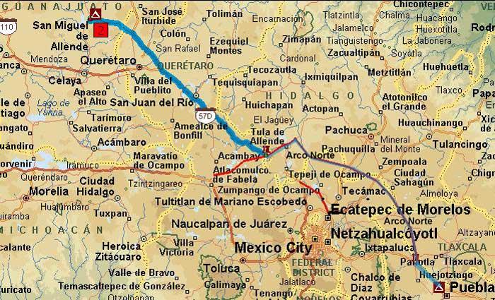 Mexico Trip Map_12 on tulancingo mexico map, coba mexico map, mazamitla mexico map, ixtapan de la sal mexico map, torreón mexico map, chilapa mexico map, guanajuato mexico map, tequesquitengo mexico map, san miguel cozumel mexico map, punta chivato mexico map, plaza garibaldi mexico map, colima volcano mexico map, anenecuilco mexico map, valle de bravo mexico map, ayotzinapa mexico map, allende coahuila mexico map, tenayuca mexico map, excellence resorts mexico map, lake cuitzeo mexico map, lagos de moreno mexico map,