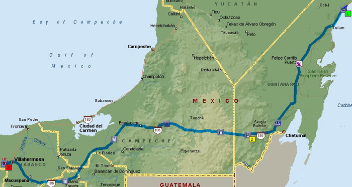 Mexico Trip Map 14_1