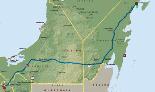 Mexico Trip Map 8-1