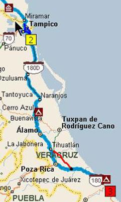 Mexico Trip Map 8-3